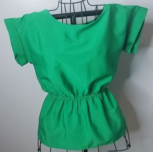 Bright green top